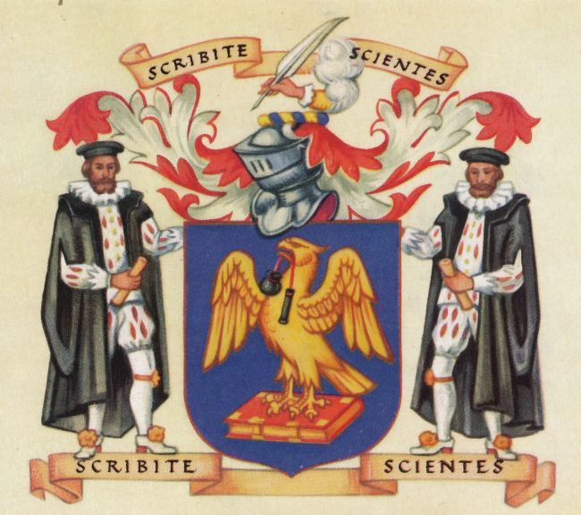 Coat of Arms for the Worshipful Company of Scriveners, London