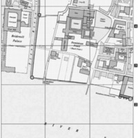 St. Bride's Church location on c. 1520 Map