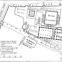 Site Plan of Greyfriars (1617)