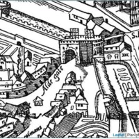 Aldgate High Street (Agas map, c. 1561)