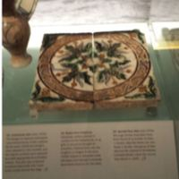 Spanish Tile On Display in Museum of London.JPG