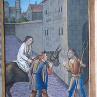 Medieval Inn (Detail from Pierpont Morgan Library, MS M.677, Fol. 298r, Christ: Parable, Good Samaritan)