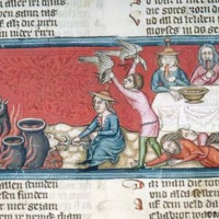 Cooking Pot (Detail from Pierpont Morgan Library, MS M.769, Fol. 112v, Moses: Miracle of Quail)