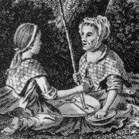 Women Using a Quern