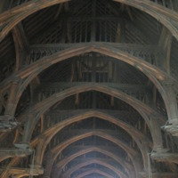 Westminster Hall's (detail of hammer-beam roof)