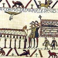 Westminster Abbey depicted in the Bayeux Tapestry