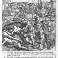 The Martyrdom of Edmund Campion, Alexander Briant and Ralph Sherwin (with Tyburn Tree in the background, 1584)