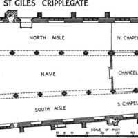 Layout of St. Giles' Cripplegate (1400-present)
