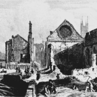 Winchester Palace (the ruins in 1814)